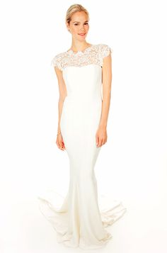 Our 5 Favorite Looks from #NicoleMiller's New Wedding Dress Collection: Illusion Neckline Mermaid Gown. http://news.instyle.com/photo-gallery/?postgallery=109011#4