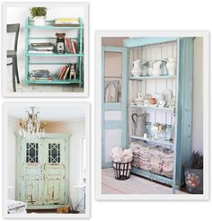 try to paint bookcase blue?