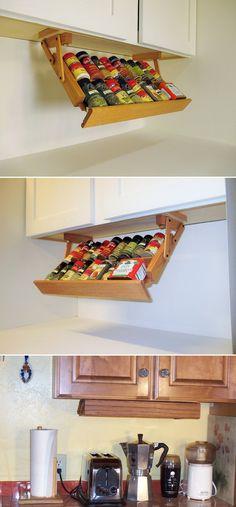 Ultimate Kitchen Storage Under Cabinet Spice Rack | Craze Trend