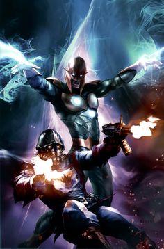 Nova & Star-Lord by Aleksi Briclot