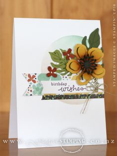 A tropical birthday card featuring the Botanical Gardens suite of products.  www.creativestamping.co.nz | Stampin' Up! | 2016 Occasions Catalogue