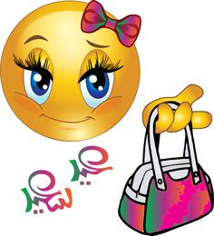 Cute Girl Smiley Faces | Cute Girl Feast Bag Smiley Emoticon Clipart - Royalty Free Public ...