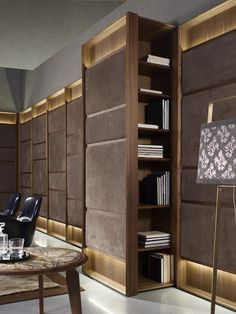 Sectional modular wooden bookcase CLUB - Ulivi Salotti