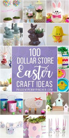 Get crafty this spring for less with these dollar store easter crafts. From DIY Easter decorations to easy easter crafts for kids, there are plenty of fun craft ideas to choose from. crafts for adults 100 Dollar Store DIY Easter Crafts Easter Crafts For Toddlers, Bunny Crafts, Easter Activities, Easter Crafts For Kids, Easter Gift, Kid Easter Ideas, Diy Crafts For Adults, Easter Stuff, Easter Party