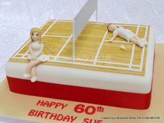 Badminton Players Cake Keep that Shuttle in Play. Cake Cookies, Cupcake Cakes, Cupcakes, Badminton Court, 80 Birthday Cake, Soccer Cake, Sport Cakes, Rectangle Shape, Baking Ideas