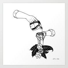 Coffee+Plant+Art+Print+by+Henn+Kim+-+$19.00