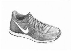These Nike Internationalists are my absolute favorite pair of sneakers because they're true to Nike's retro running sneakers. They are fun to wear and they are also fun to sketch! Great piece of art for sneaker lovers. #nike #sketch #artprint