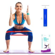 Insonder Resistance Bands Set - Skin Friendly Loop Bands with Workout Guide - Great for Exercise of Glutes Legs Thigh Fitness Physical Therapy Pilates Resistance Loop Bands, Resistance Band Exercises, Pilates Workout, Gym Workouts, Fitness Pilates, Squat Sport, Physique, Squats And Lunges, Jump Squats