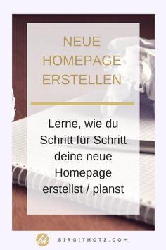 Eigene Homepage / Website erstellen (lassen) – wie fange ich an? Web Design, Website Design, Page Design, Graphic Design, Homepage Website, Internet Advertising, Employer Branding, Multi Level Marketing, Web Development