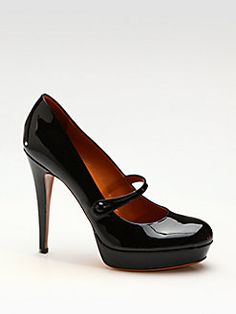 Gucci - Betty Patent Leather Mary Jane Pumps