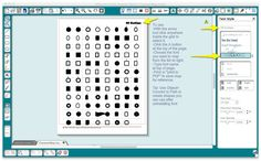 Character map template for Silhouette Studio - great way to keep track of all those dingbat fonts!!