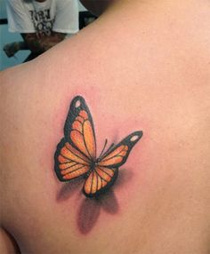 Most beautiful butterfly tattoos for women Yellow Butterfly Tattoo, Orange And Black Butterfly, Monarch Butterfly Tattoo, Butterfly Tattoos Images, Butterfly Tattoo Cover Up, Butterfly Tattoo Meaning, Butterfly Tattoo On Shoulder, Butterfly Tattoo Designs, Tattoo Images