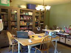 My Sewing Room by freakadoodles, via Flickr