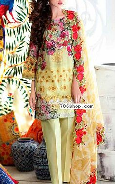 Light Green Lawn Suit | Buy Charizma Eid Collection Pakistani Dresses and Clothing online in USA, UK