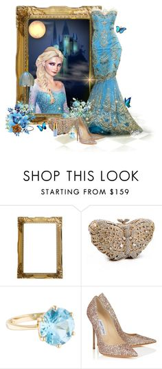 """""""Frozen"""" by oregonelegance ❤ liked on Polyvore featuring Disney, LuxMob and Jimmy Choo"""