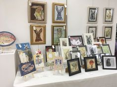 My table at Blickling Hall Exhibition Linocut Prints, Gallery Wall, Frame, Home Decor, Picture Frame, A Frame, Interior Design, Frames, Home Interior Design