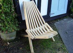 Kentucky stick chair folded up
