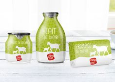 Chevre Court French Dairy Product Goat milk is very unique in its nutrients and use for dairy products. That's why our goal was to develop a fresh, unique and outstanding packaging design for this project. Using bold green background with illustrated floral-like texture, we have applied the graphics on differently shaped products using flexible sleeves...