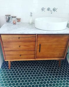 Bathroom decor for your bathroom remodel. Discover bathroom organization, bathroom decor ideas, bathroom tile ideas, bathroom paint colors, and more. Upstairs Bathrooms, Master Bathroom, Retro Bathrooms, Zen Master, Master Baths, Marble Bathrooms, Rustic Bathrooms, Bathroom Toilets, Dream Bathrooms