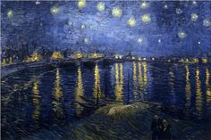 "The less famous of Vincent van Gogh's two ""The Starry Night"" paintings"