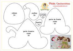 so cute dog pattern, make with felt and use as a brooch. Felt Ornaments Patterns, Felt Patterns, Dog Crafts, Felt Crafts, Fabric Crafts, Baby Mobile, Felt Dogs, Dog Pattern, Sewing Dolls