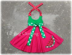 Summer Watermelon Comfy Knit Fruit Dress Available in sizes 12m 18m 2T 3T 4T 5T 6 7 8 girl on Etsy, $39.99