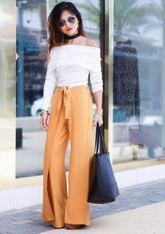 ★ Tuto couture pantalon THAÏ ★ Urban Chic Outfits, Fall Fashion Outfits, Autumn Fashion, Cute Outfits, Diy Pantalon Thai, Thai Hose, Mustard Pants, Mustard Yellow, Coin Couture