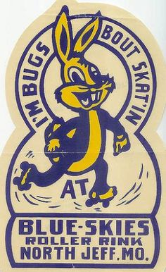 Blue-Skies Roller Rink sticker/emblem