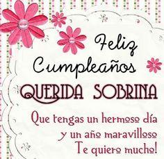 Felicitación de cumpleaños para katita Mi querida sobrina, otro año ha pasado y más chibola jjajaja, Estoy llena de esperanzas y rezo porque en tu camino encuentres alegría y cariño. Deseo que, a pesar de los años, siempre mantengas la alegría y ternura que tienes hoy Dios te bendiga siempre mi chiquita linda. !! TE QUIERO MUCHO MI REYNITA.!!