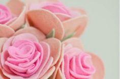 Rosas de feltro passo a passo