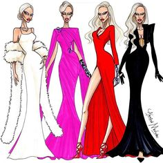 The Countess- AHS - Who was your favorite look? #LadyGaga #AmericanHorrorStory #FashionIllustration