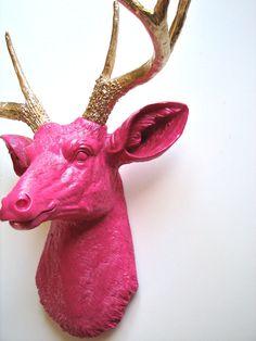 Faux Taxidermy Deer Head Deerman the Animal Head by mahzerandvee