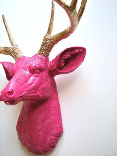 Faux Taxidermy Deer Head Deerman the Animal Head by mahzerandvee