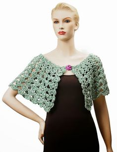 Shoulder warmer.  Link also has a variation to this pattern for a crochet collar.