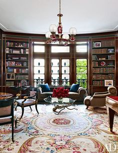 10 Best Rooms with Aubusson Rugs in Architectural Digest