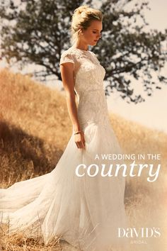 Get inspired by a wedding in the country, for the bride who loves wildflowers and dancing under the stars.
