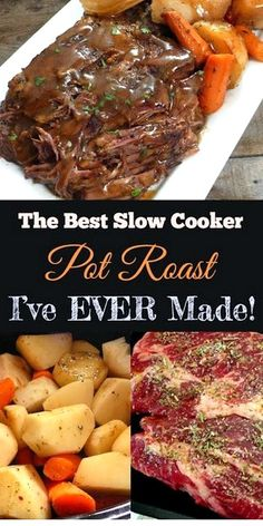 Roast Beef Recipes, Healthy Crockpot Recipes, Beef Meals, Crock Pot Recipes, Meat Recipes For Dinner, Recipes With Beef Chuck Roast, Recipes Slow Cooker, Best Crockpot Meals, Beef Dinner Ideas