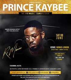 Prince Kaybee Sells Out Nomad London Latest House Music, Old Street London, African House, Latest Albums, Looking Back, Acting, Prince, Star, Stars