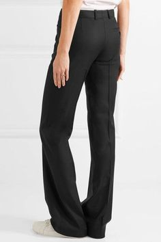 Joseph - Rocker Super 100 Wool Wide-leg Pants - Black - FR36