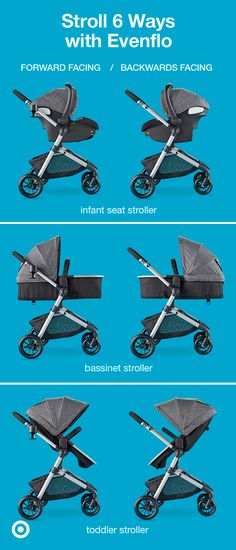 The Evenflo Pro Series Pivot Modular Travel System features 6 convenient ways to stroll with your li Toddler Stroller, Baby Strollers, Baby Must Haves, Travel System, Everything Baby, Baby Needs, Baby Time, Baby Bumps, Baby Essentials