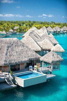 Top Celebrity Honeymoon Destinations 2015 - Bora Bora Honeymoon Suite   CHWV