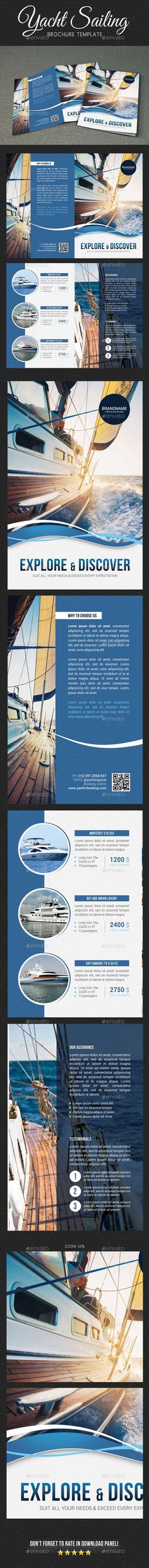 Yachting Brochure Template PSD