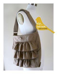 DIY Womens Clothing : Ruffle Bag PDF (Sewing Pattern)