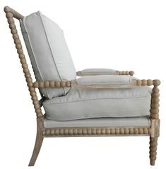Pair of Spool Chairs, Spindle Chair - traditional - chairs - other metro - Charlotte and Ivy Spool Chair, Spindle Chair, Chair And Ottoman, Armchair, Chair Cushions, Home Furniture, Furniture Design, Furniture Refinishing, Bedroom Furniture