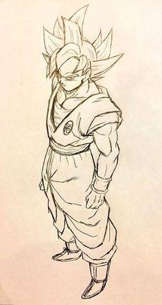 Como desenhar Goku Instinto Superior (Dragon Ball Super)