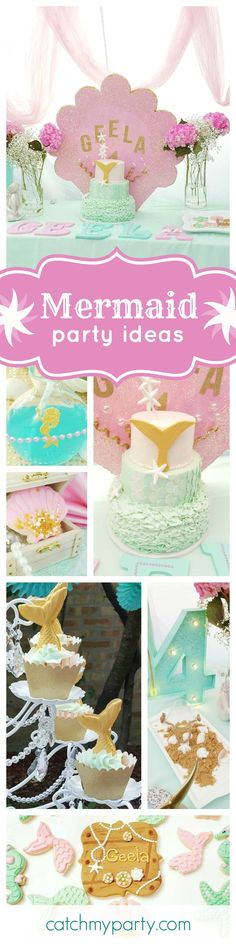 This Under the Sea Mermaid Birthday Party is gorgeous!! Loving the fabulous birthday cake!! See more party ideas and share yours at CatchMyParty.com