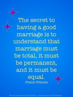 Secrets to a Happy Marriage | The secret to a good marriage.