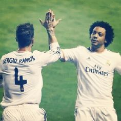 Marcelo and Ramos  Real Madrid