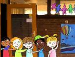 Liedje: kinderen zwaaien op school