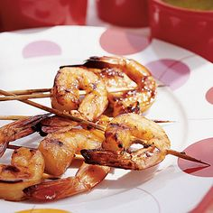 Honey-glazed Shrimp.  Recipe courtesy of Coastal Living.